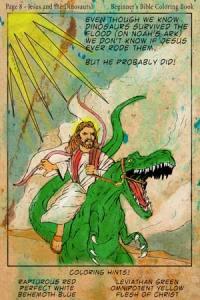 Jesus Riding A Dinosaur
