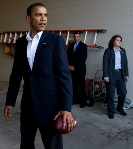 President Obama With A Football