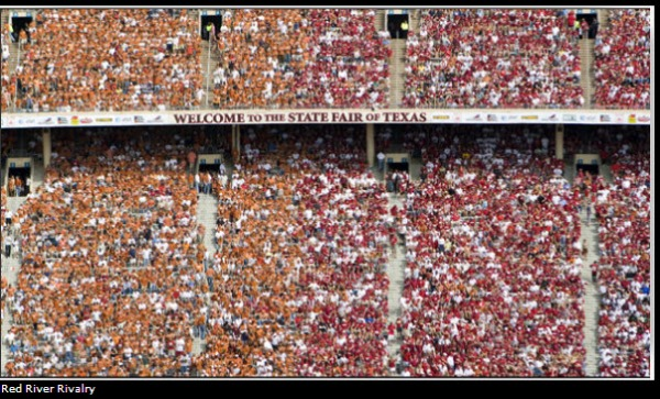 Crowd At The Red River Rivalry