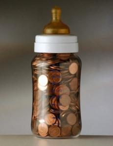 Baby Bottle Of Pennies