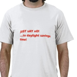 Just Say No To Daylight Savings Time